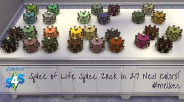 Mod The Sims Spice Of Life Spice Rack In 27 Colors