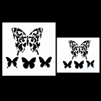 Template Designs DIY Spray Painted Wall Decor Butterfly ...