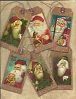 12 VINTAGE CHRISTMAS TAGS PRIMITIVE GRUNGY special Hang tags Gift Tags