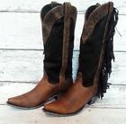 Johnny Ringo Brown Ladies' Western Boots w/ Chocolate Fringe #JR922-63T