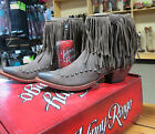 Women's Johnny Ringo Chocolate Nubuck Short Boots w/Fringe Free Ship  JR922-126T