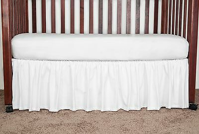 Circo Brown Blue Multi Dot Crib Skirt Dust Ruffle New