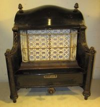 Antique Ornate Gas Radiant Heat Heater Fireplace Insert ...