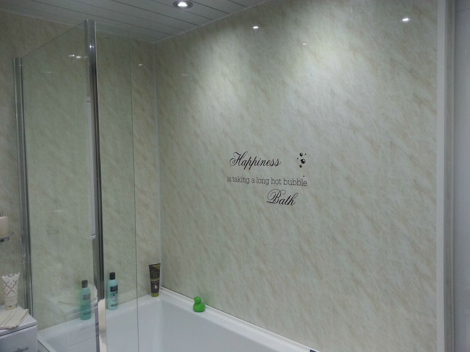 Waterproof plastic wall covering for bathrooms -  Bathroom Wall Panels Download