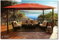 """OUTDOOR 11x15 SUNBRELLA CANOPY TOP PERGOLA GAZEBO"""