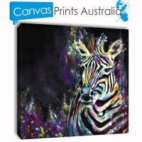 Zebra Painting Stretched Canvas Prints Wall Art Home Decor ...