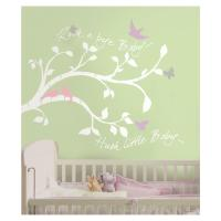 New WHITE TREE BRANCHES WALL DECALS Baby Girl or Boy ...