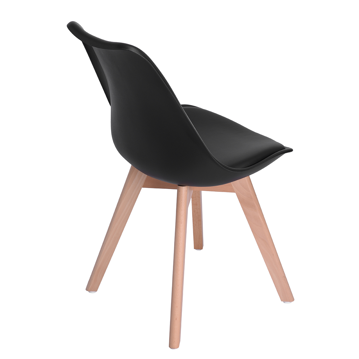 Chaise Scandinave Rembourree Lot De 4 Chaise De Salle A Manger Scandinave Design Nordique Noir