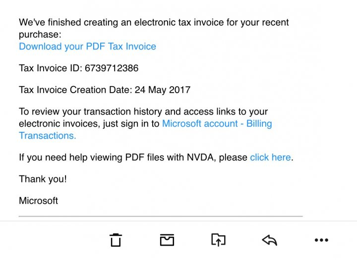 Tax invoice from Microsoft? - Page 1 - The Lounge - PistonHeads - microsoft invoices