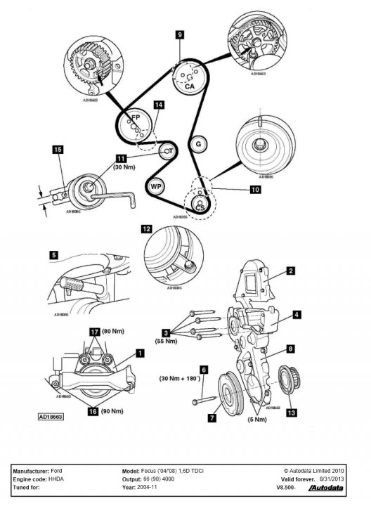 1970 ford 9 1l timing marks diagram