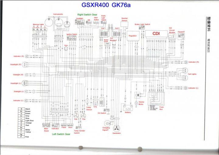 suzuki gsxr 400 gk76a wiring diagram