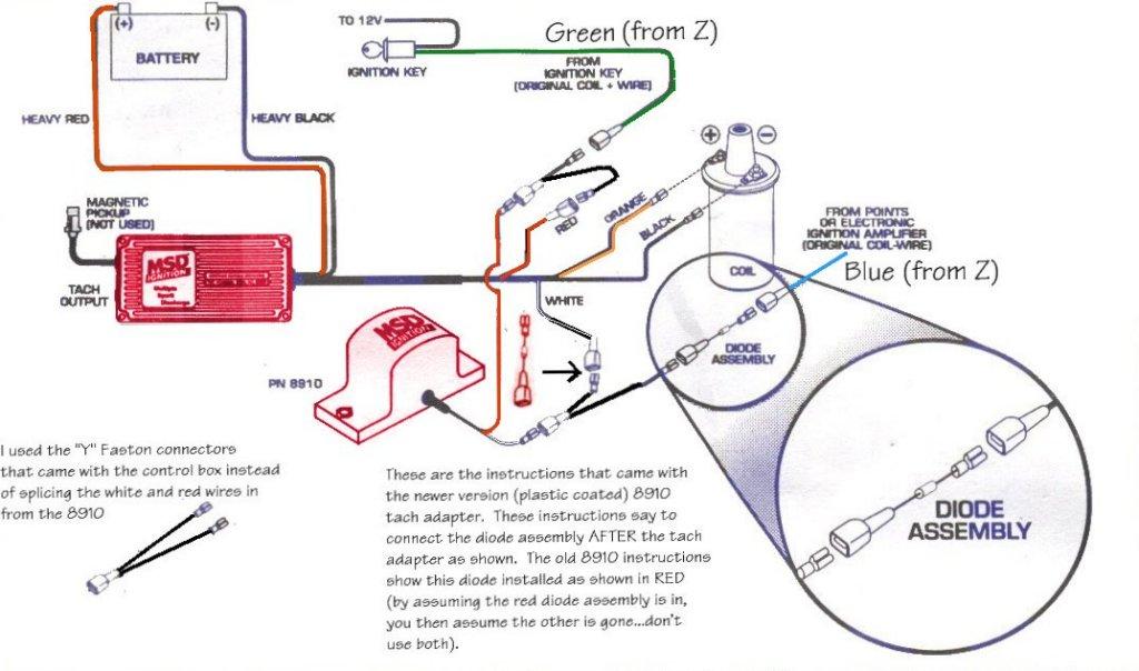 msd tach adapter wiring diagram mopar