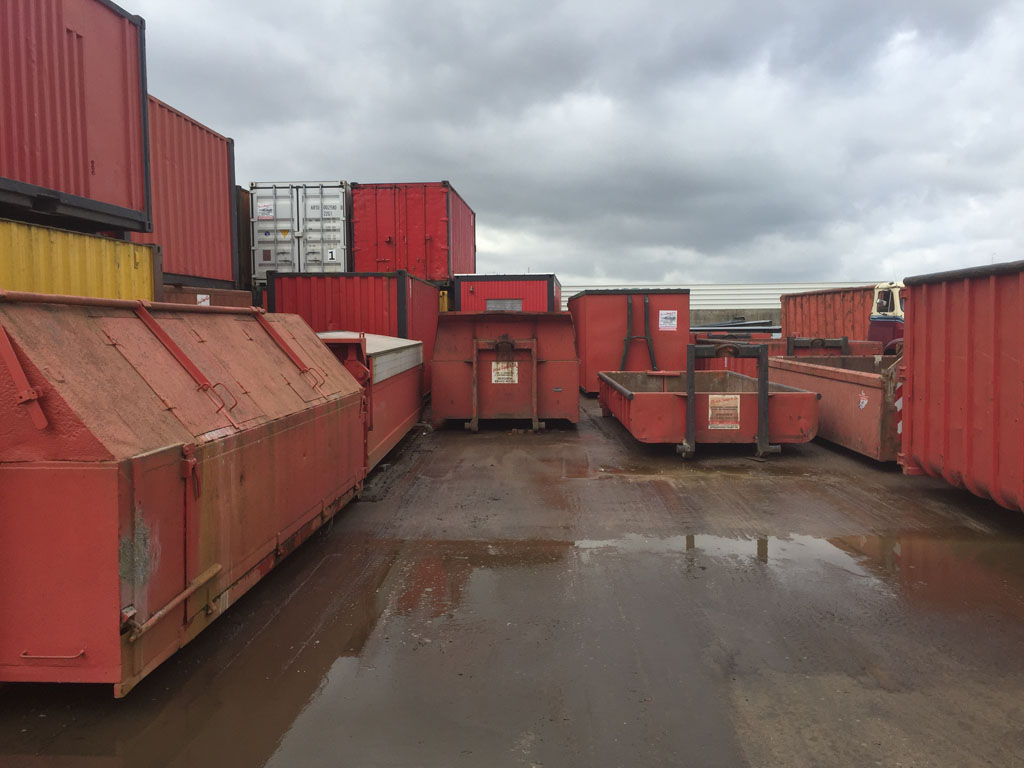 Kleine Container Puin Containers
