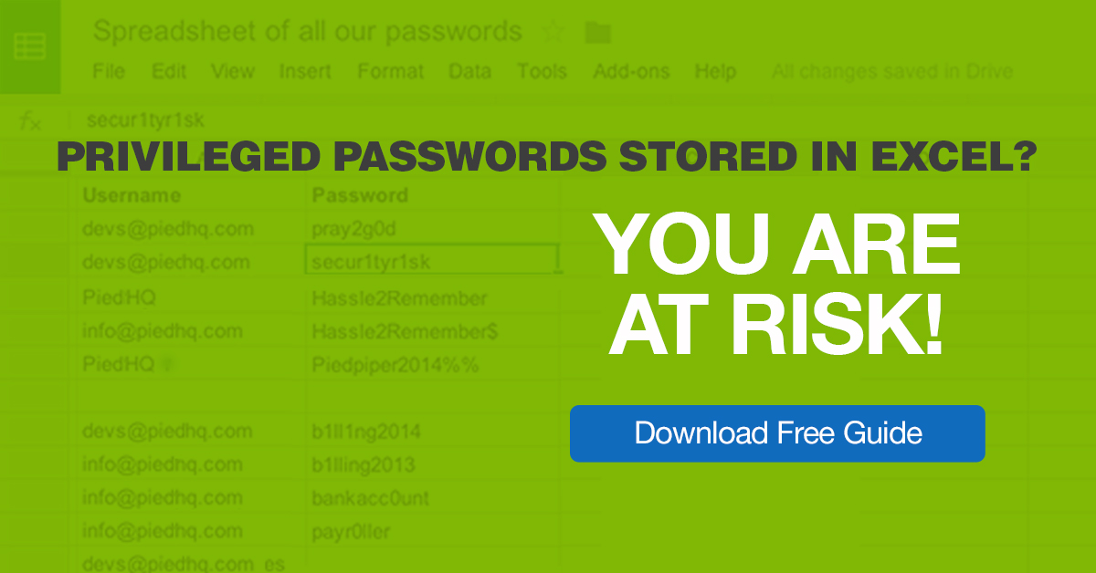 The Password Spreadsheet why you must NOT store passwords in Excel