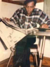 Calvin Theodore Brasier in his favorite kitchen chair