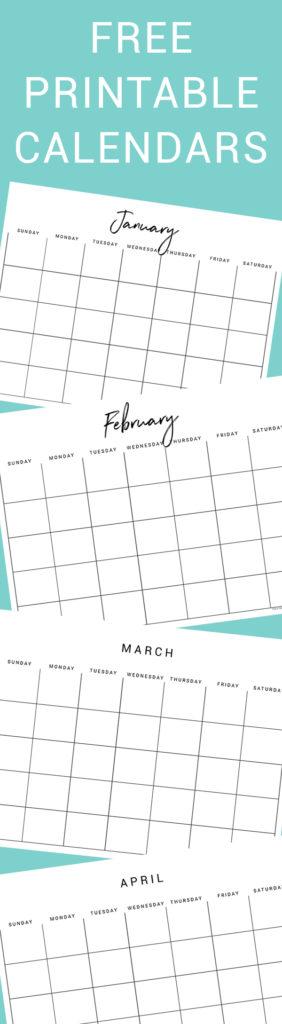 Free Printable Calendars! - Thyme Is Honey