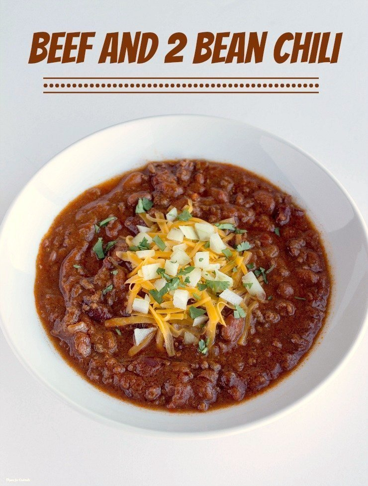 Beef and Two Bean Chili ~ Thyme for Cocktails