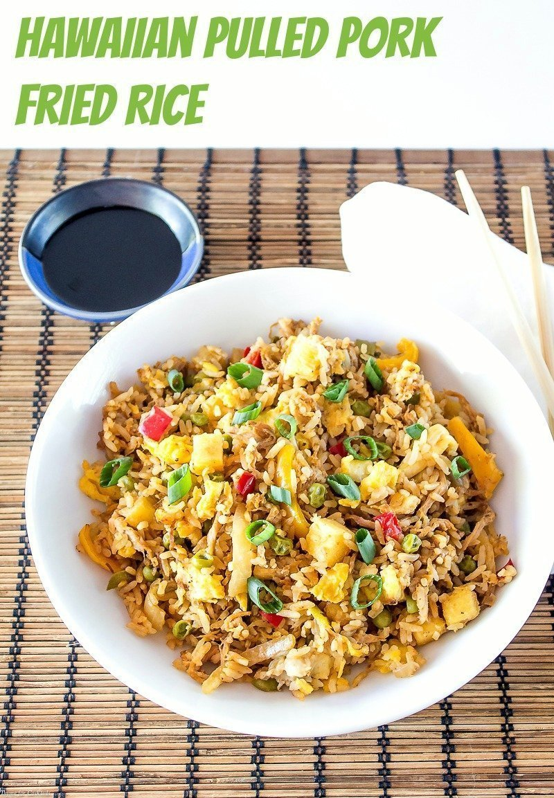Hawaiian Pulled Pork Fried Rice Thyme For Cocktails