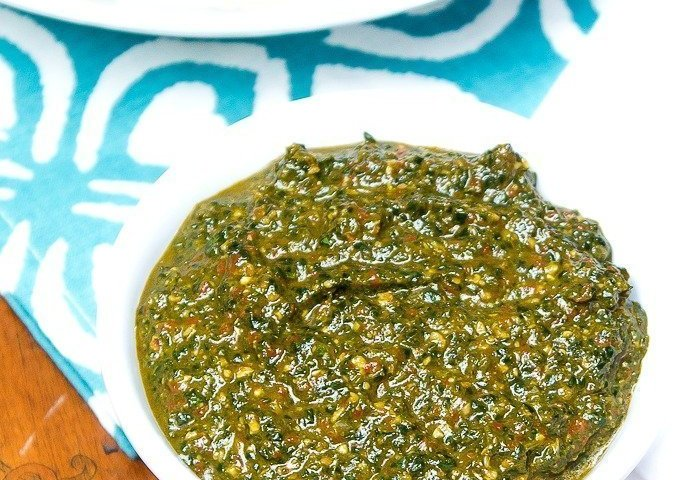 Spicy Spinach Pesto