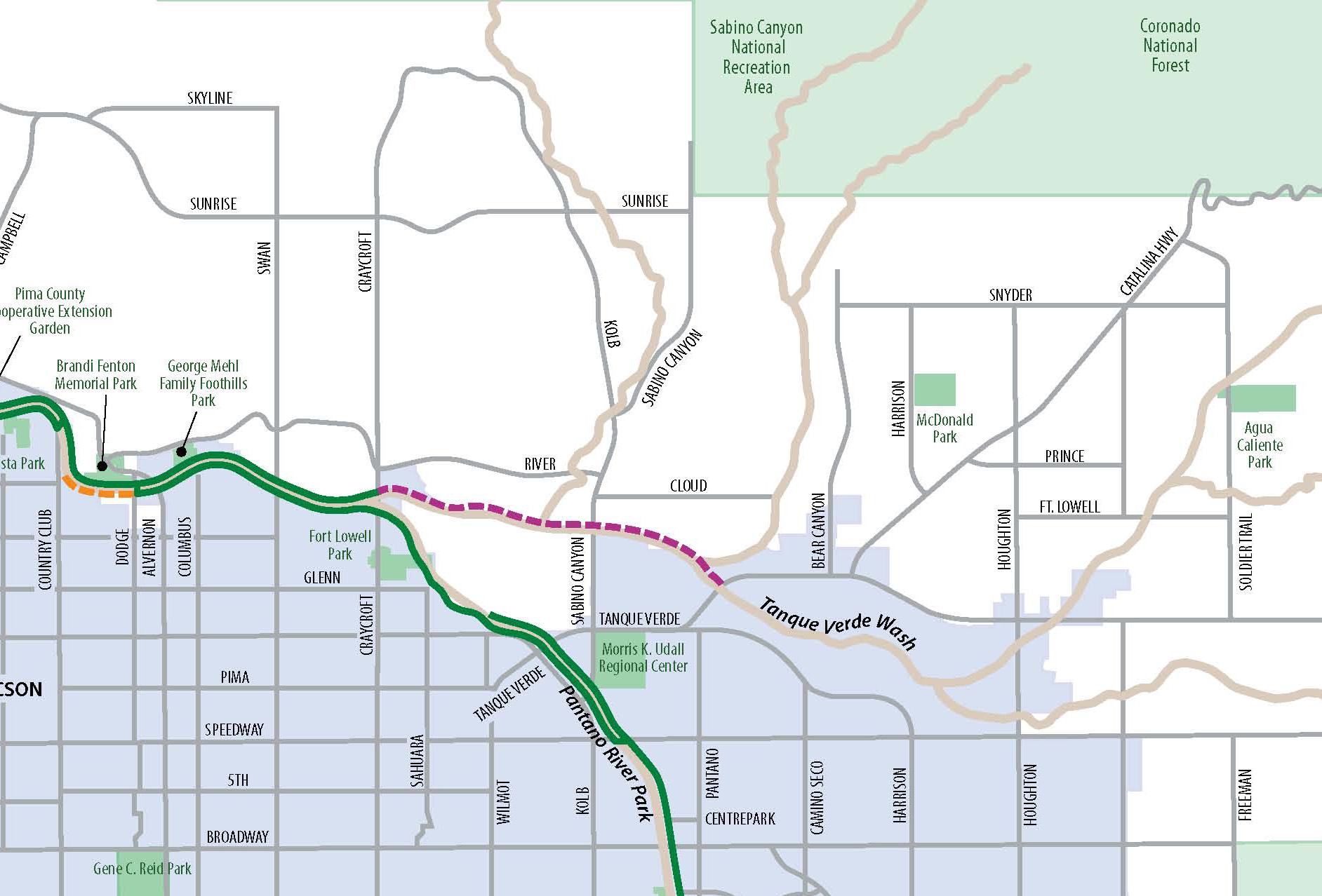 Camino Del Oro Parking County Working On Master Plan To Extend The Loop Path Network