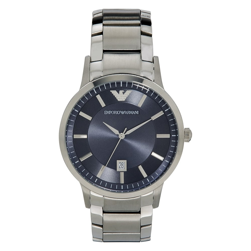 Steel Watch Armani Watches Ar2477 Men S Blue Stainless Steel Watch