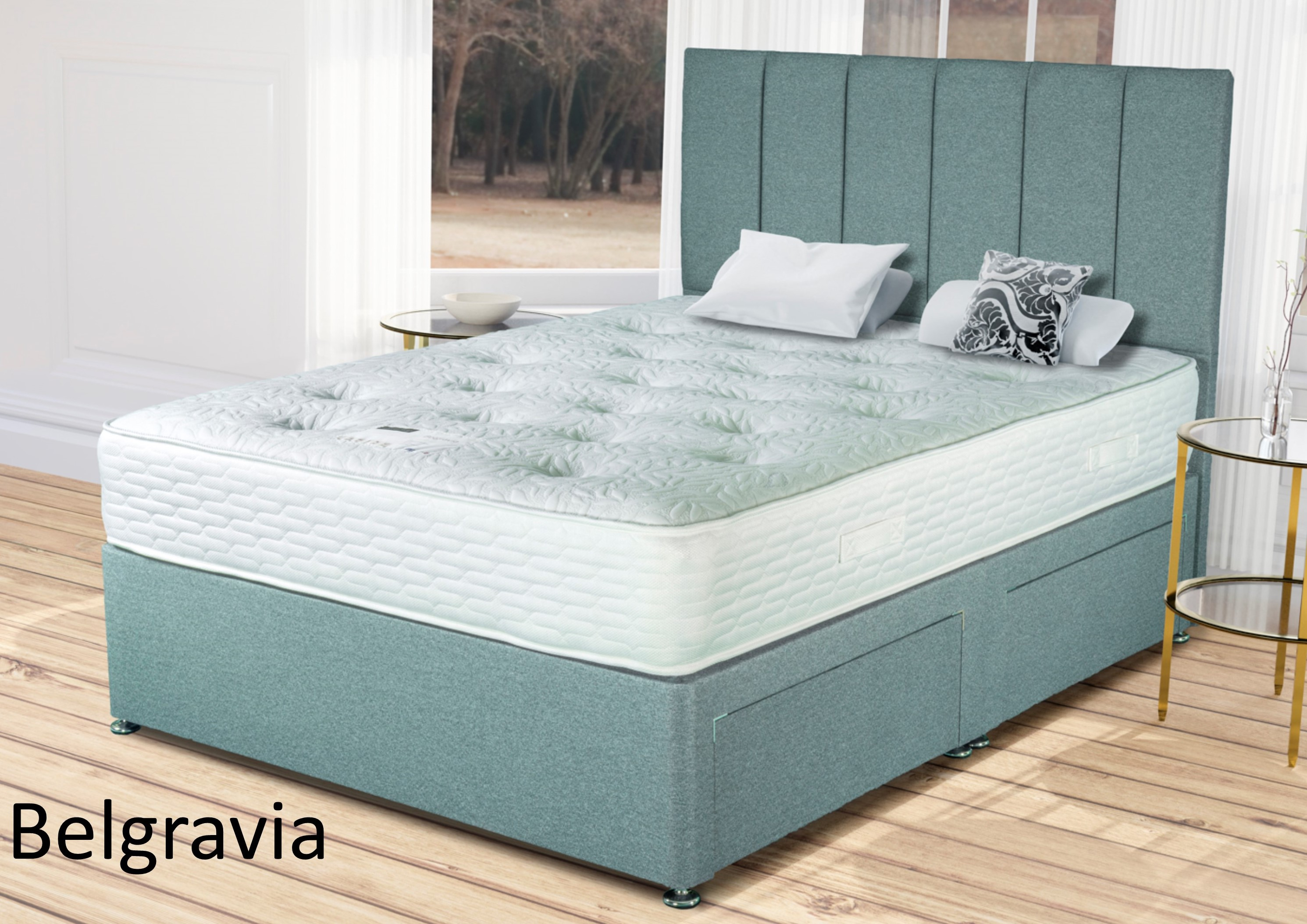 Double Divan Beds 4 6 Belgravia Winter Summer Double Divan Bed