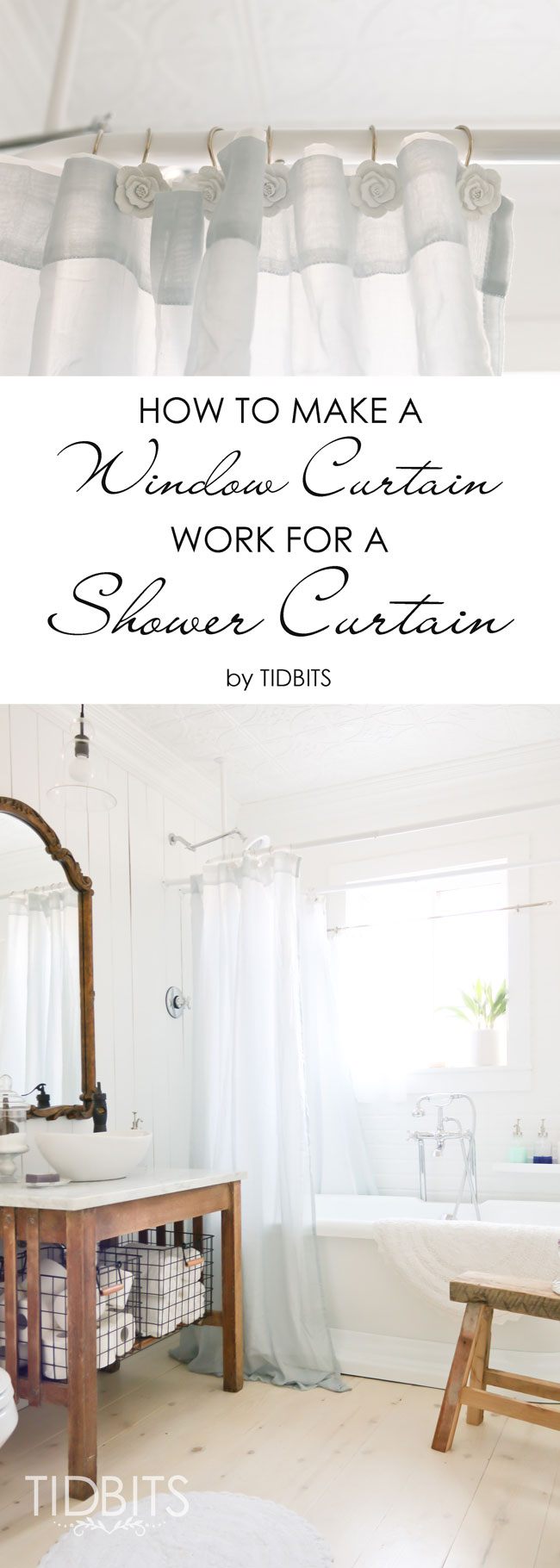 How To Make Shower Curtain How To Make A Window Curtain Work For A Shower Curtain Tidbits