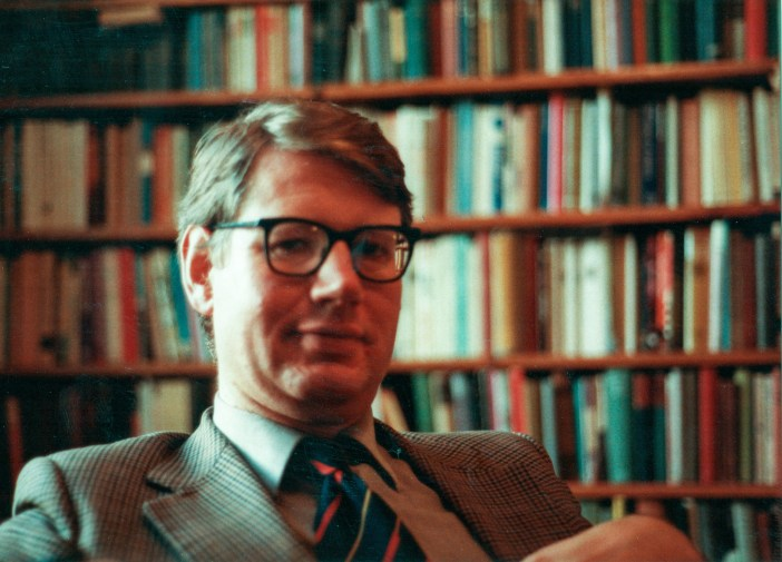 Charles Relle in his library, 1983 (taken by his son, Ben Relle).