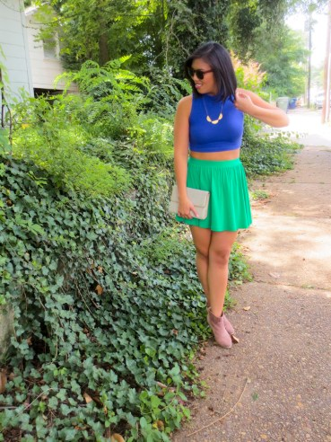 summer style: ASOS crop top and skirt | tide & bloom