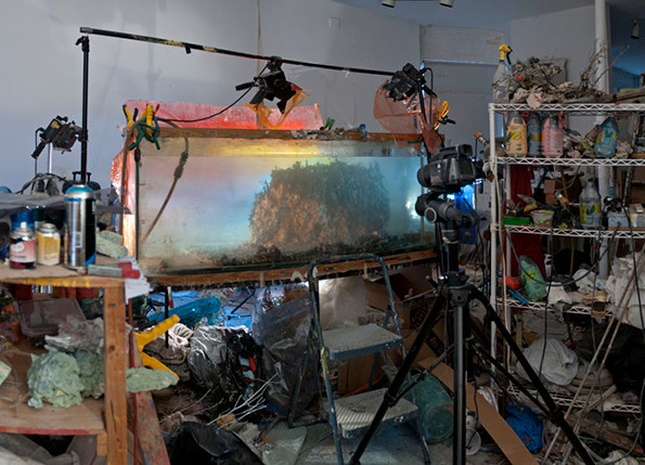 Kim Keever's studio set up | tide & bloom