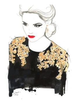 Jessica Durant fashion illustration