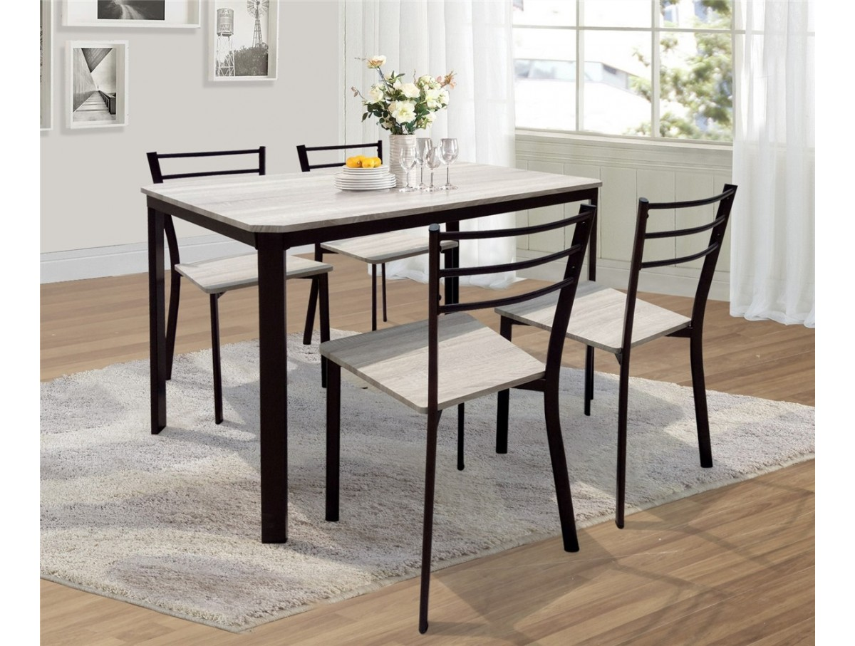 Chaises De Table Ensemble Table 4 Chaises Lydie Tidy Home