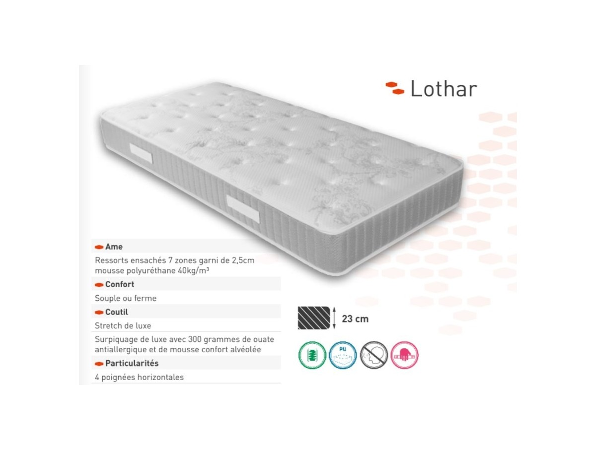Matelas Relaxation Matelas Relaxation Ressorts Ensachés Lothard Tidy Home