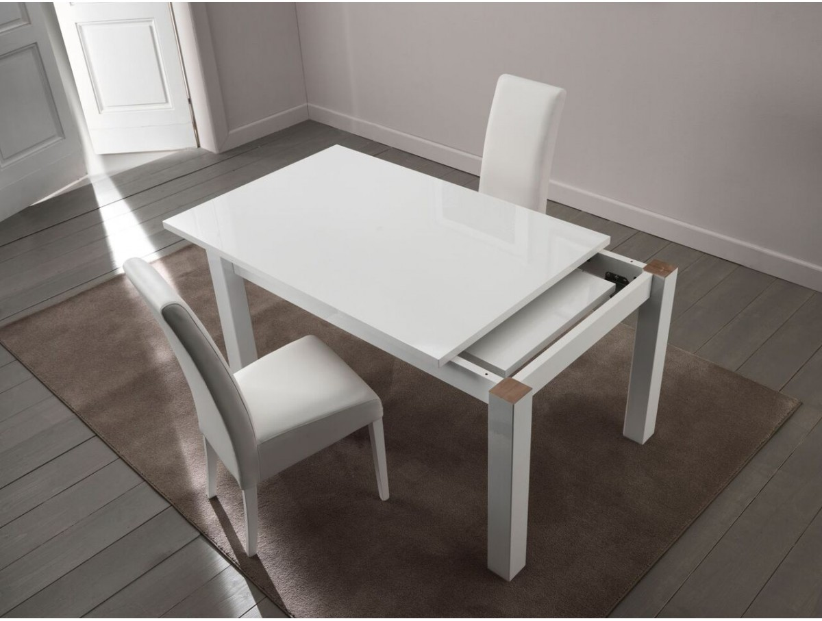 Table Blanche Extensible Table Laquée Blanche Extensible - Tidy Home