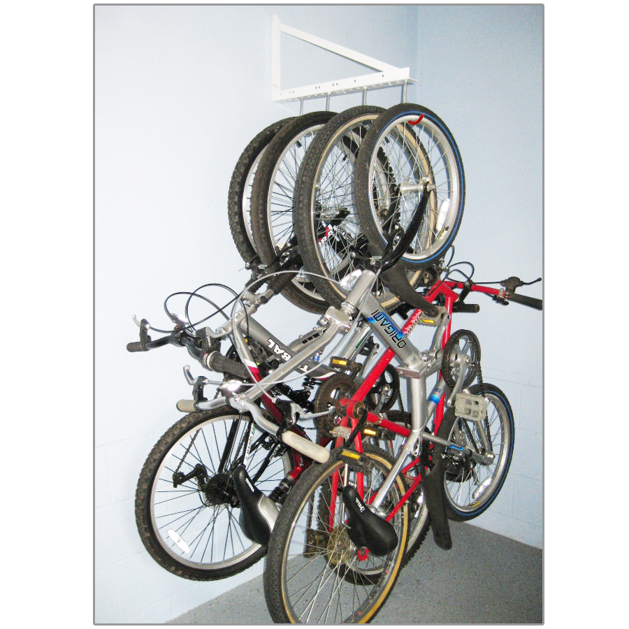 Tidy Garage Bike Rack Installation Garage Hanging Bicycle Rack