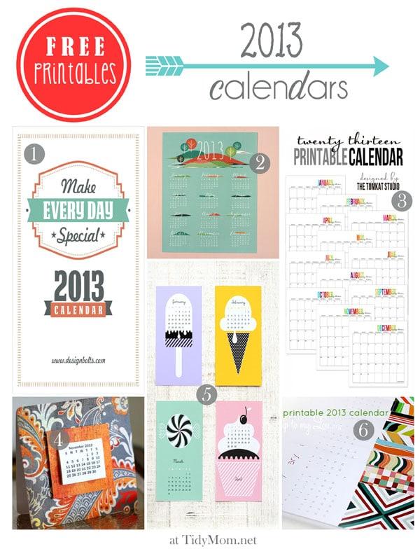 2013 Printable Calendars HP Envy Printer