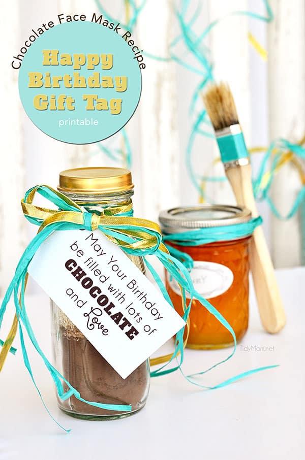 Chocolate Face Mask Recipe gift idea