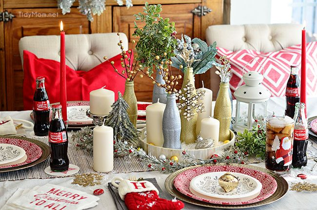 Ikea St Louis Glitter Painted Holiday Centerpiece | Tidymom