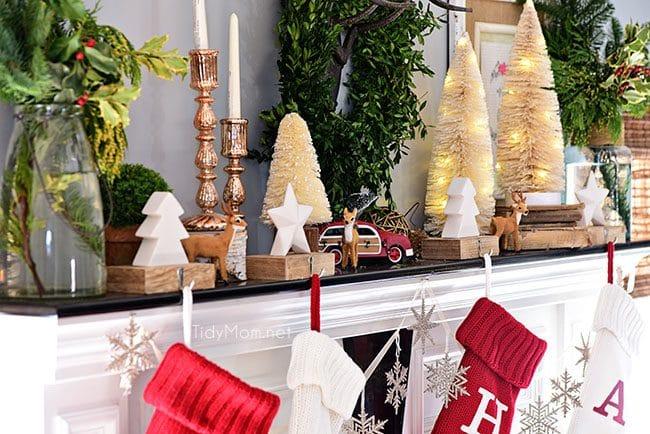 Christmas Mantel Decor Seasonal Simplicity TidyMom® - christmas mantel decor
