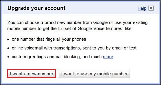 Create a Google Voice Number