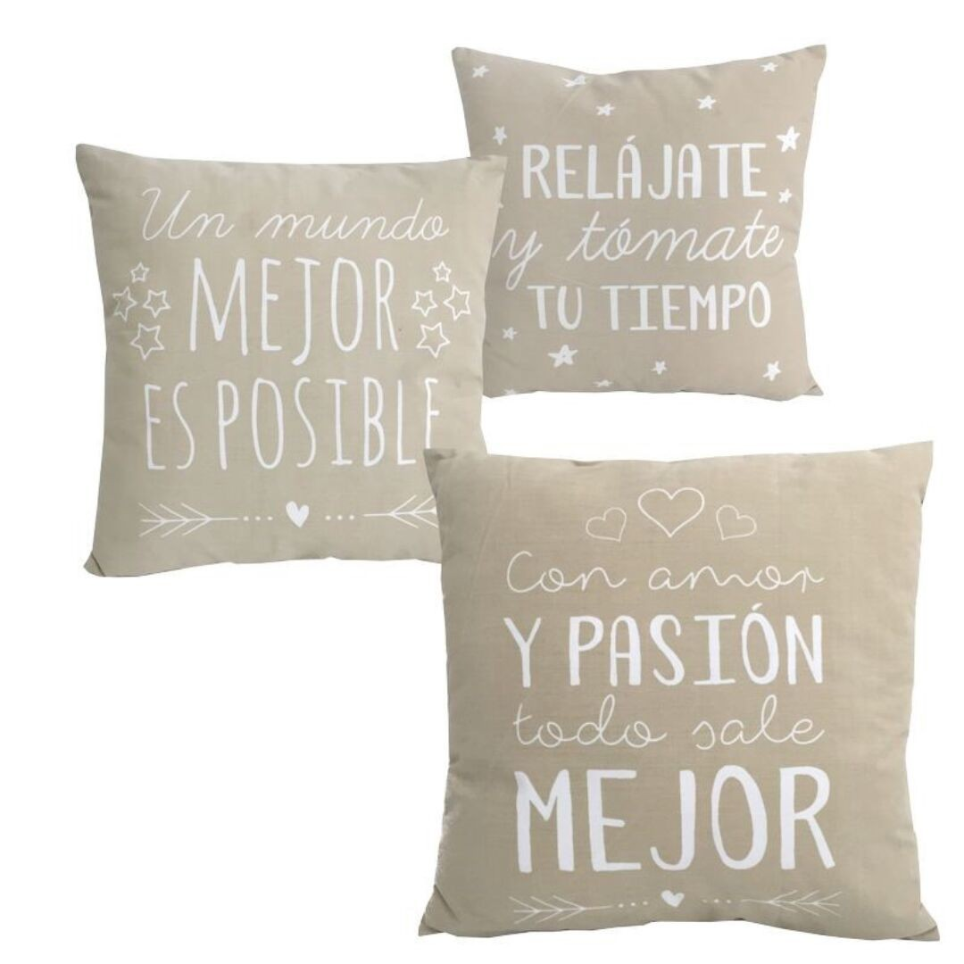 Cojines 60 X 80 Set 3 Cojines Frases