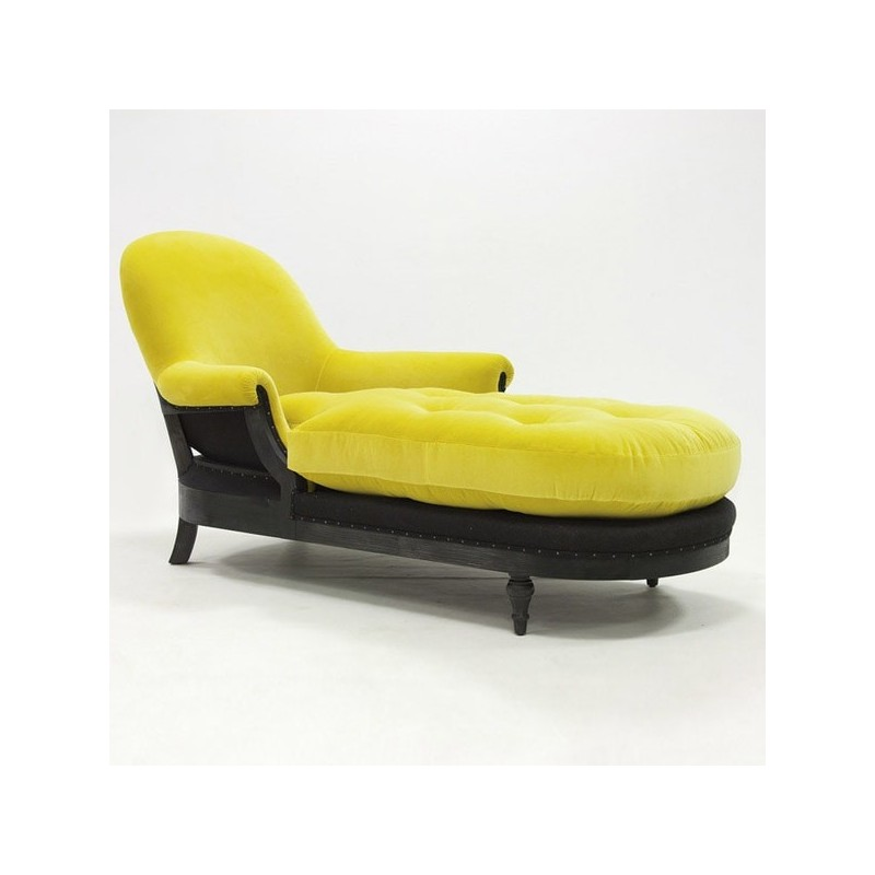 Crearte Collections Chaise Longue Terciopelo Colores, Chaise Longue Moderna