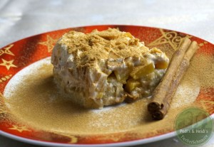 Cantuccini-Pfirsich-Dessert