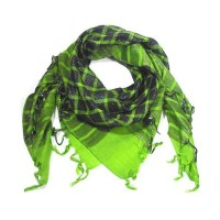 Ties Planet Lime Green Sparkle Check Square Scarf from ...
