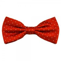 Orange & White Polka Dot Silk Bow Tie from Ties Planet UK