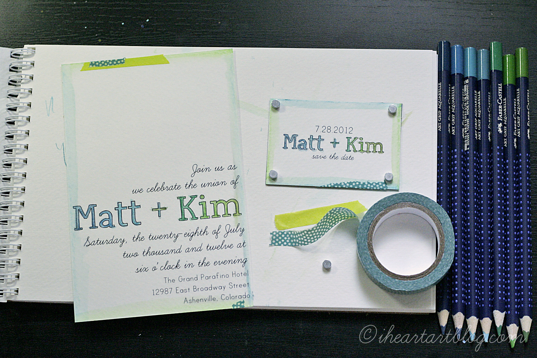 Diy Wedding Invitations With Photo Diy Wedding Invitations With Art Grip Aquarelles Faber Castell