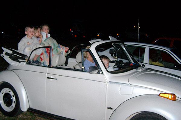 Susan Rickman in her VW