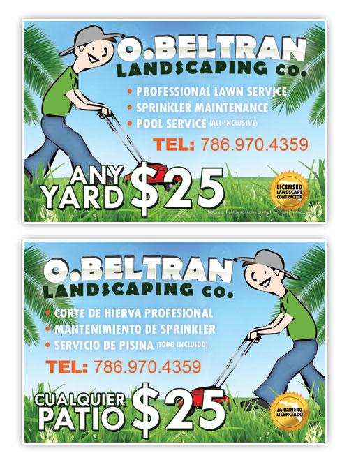 OBeltran Landscaping Co - Promotional Flyer Design - Tight Designs - promotional flyer designs