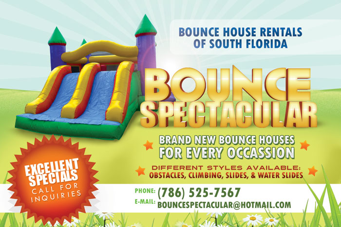 Bounce Spectacular Promotional Flyer Design - Tight Designs