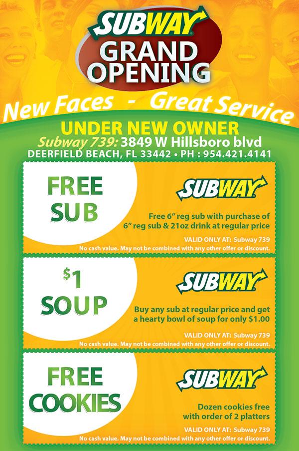 Subway Restaurant Grand Opening Flyer Design - Tight Designs - grand opening flyer